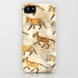 The Red Foxes iPhone Case
