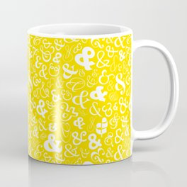 Ampersands - Yellow Coffee Mug