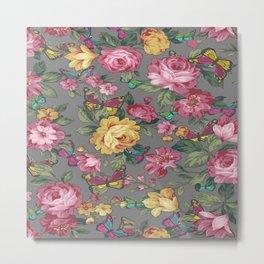 butterflies & roses Metal Print