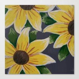 Handmade Sunflower Painting Canvas Print