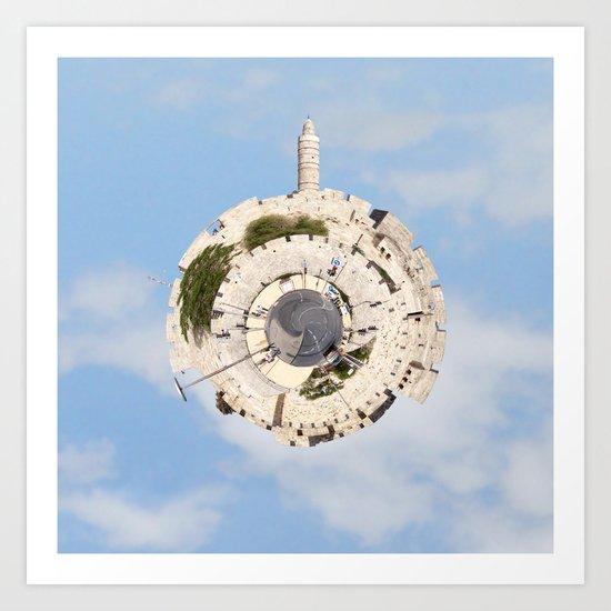 """Worlds in Jerusalem"": Old City Art Print"