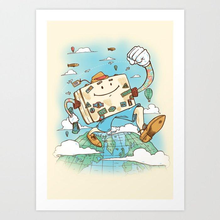 Mr Globetrotter Art Print