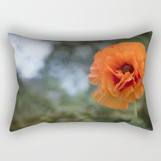 Enlightened Poppy - Poppies Flowers Flower on #Society6 Rectangular Pillow