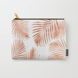 Rose Gold Palm Leaves Carry-All Pouch