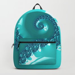 Spiral in Turquoise Backpack
