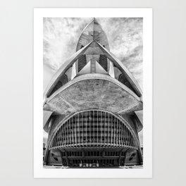 City of Arts and Sciences VII by CALATRAVA architect Art Print