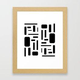 Black and white geometric design Framed Art Print
