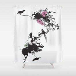 Fridas Garden Shower Curtain