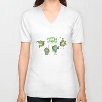 ninja turtle V-neck T-shirts featuring Ninja Turtles Turtle Power by MrMaars