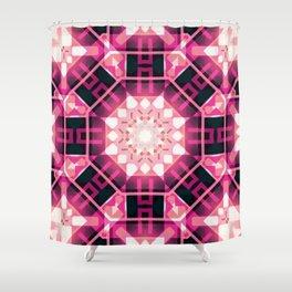 Pink Glow Geometric Mandala Shower Curtain