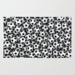 Soccer balls Rug