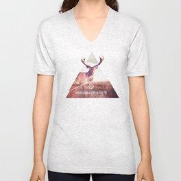 Never look a deer in the eyes Unisex V-Neck