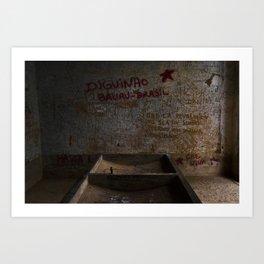 La salle de lavage de Vallegrande Hôpital // The Laundry Room of Vallegrande Hospital Art Print