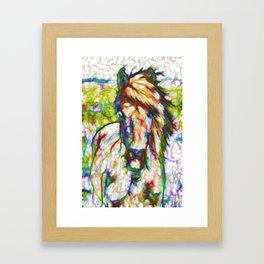 A beautiful brown horse  Framed Art Print