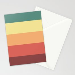 Retro Stripes Stationery Cards
