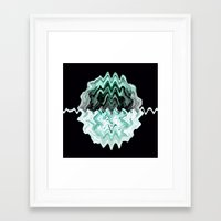 brain waves Framed Art Prints featuring Brain Waves... by Cherie DeBevoise