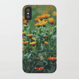 Orange Flowers #1 iPhone Case