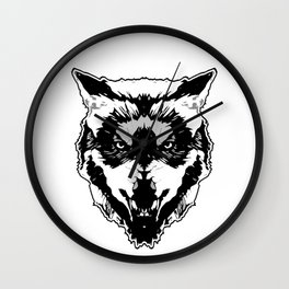 WereWolf Face - n°1 Black & White Wall Clock