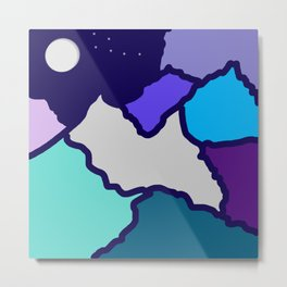 mountains and night sky Metal Print