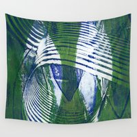 wave Wall Tapestries featuring Wave by Sandra Hedicke Clark