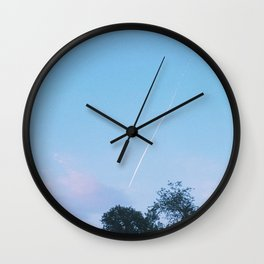 sunset contrail Wall Clock