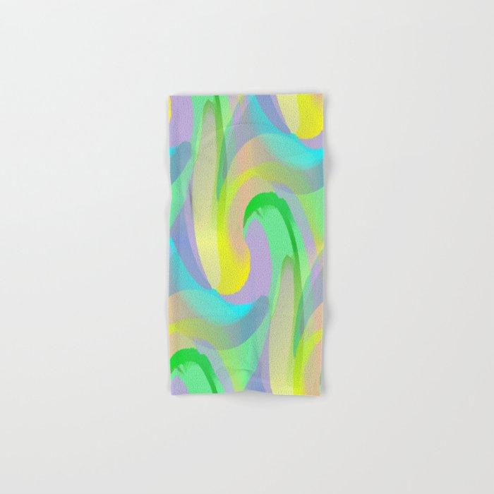 Soft Rainbow Abstract - Painterly Hand & Bath Towel