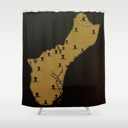 Gold Guam Shower Curtain