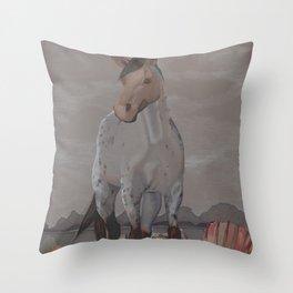The Carnage of Kelpies Throw Pillow