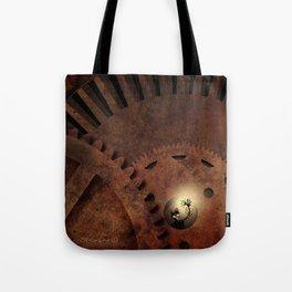 The Man in the Machine - A Steampunk Fantasy Tote Bag