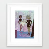 shopping Framed Art Prints featuring Shopping by BrinyGhoul