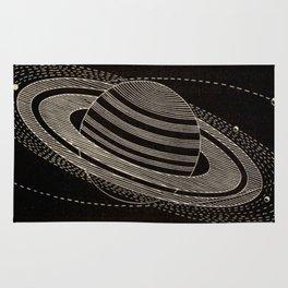 Black Saturn Rug