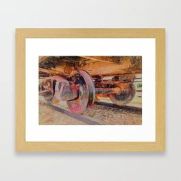 Clicky Clack on the Track Framed Art Print