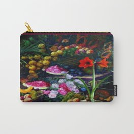 Traditional Fruits & Flowers Harvest Style Painting Carry-All Pouch