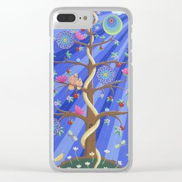 Mandala Tree Clear iPhone Case