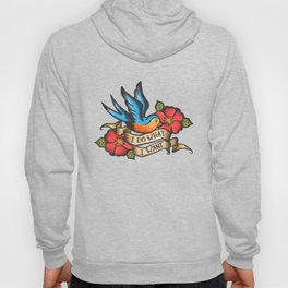 I Do What I Want Vintage Bluebird And Rose Tattoo Hoody