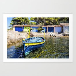 Seacoast of Cap Benat near Le Lavandou and Bormes-les-Mimosas in French Riviera Art Print
