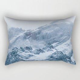 Mountains snow and fog Rectangular Pillow