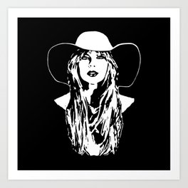 PORTRAIT OF A COUNTRY FEMALE SINGER,ACTRESS AND SUPERSTAR Art Print