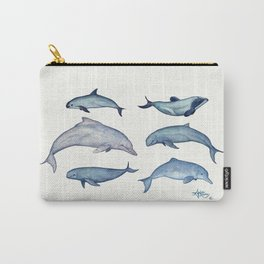 """""""Rare Cetaceans"""" by Amber Marine - Watercolor dolphins and porpoises - (Copyright 2017) Carry-All Pouch"""