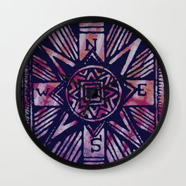 colored compass Wall Clock