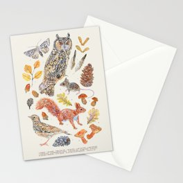Autumn Wildlife - Neutral Annotated Stationery Cards