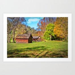 Johnson City Tennessee Cabins Art Print