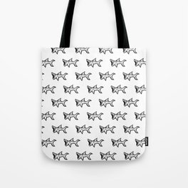 Black and White Sharks Tote Bag
