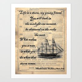 Count of Monte Cristo quote Art Print