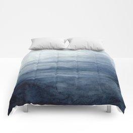 Indigo Abstract Painting   No.2 Comforters