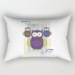 Striped Owls Rectangular Pillow
