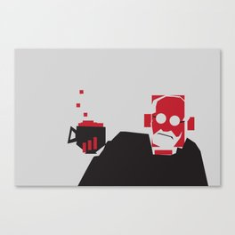 Tea and Crumpets with Freud Canvas Print