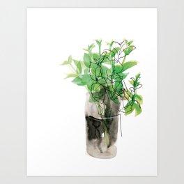 Mint in Glass Art Print