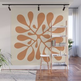 Matisse Inspired Abstract Cut Out orange Wall Mural