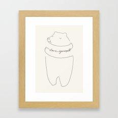 Love Yourself Bear Framed Art Print